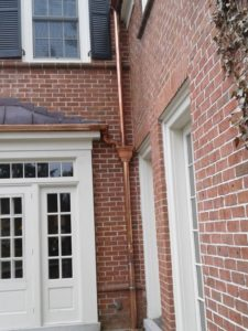 Copper Downspout Replacement